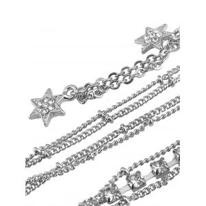 Rhinestone Beach Star Body Chain - SILVER