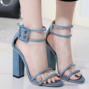 Ankle Strap Denim Sandals