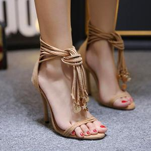 Pendant Tassel High Heel Sandals