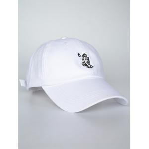 Sunscreen Palms Number Embroidery Baseball Hat -