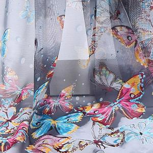 Lightsome Fancy Butterfly Printing Chiffon Scarf -