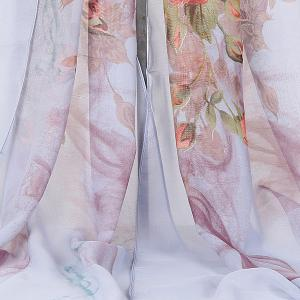 Lightsome Rose Bush Printed Gossamer Scarf -
