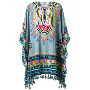 Fringed Tribal Butterfly Sleeve Cover-up