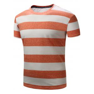 Short Sleeve Broad Striped T-shirt