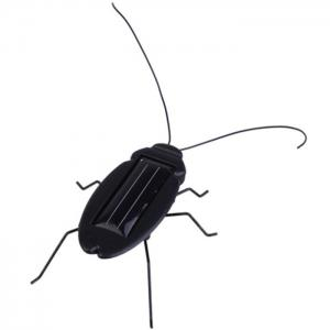 Solar Powered Cockroach Educational Toy - Black