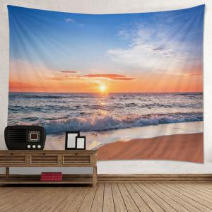 Wall Hanging Art Decoration Beach Sunset Print Tapestry