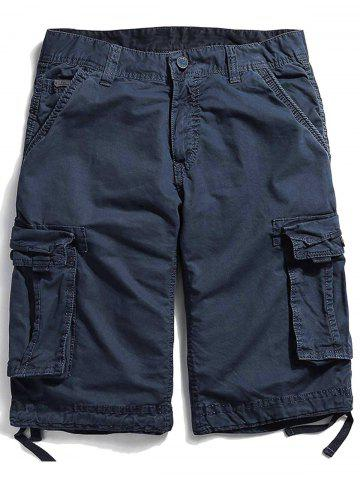 Outfit Pockets Zipper Fly Straight Cargo Shorts
