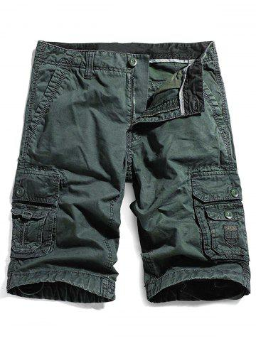 Sale Zip Fly Straight Pockets Cargo Shorts