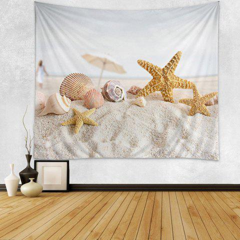 Beach Starfish Shell Print Tapestry Wall Hanging Art Décoration