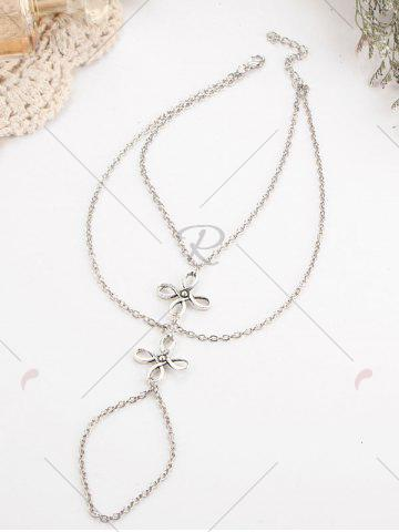 Buy Layered Chinese Knot Beach Slave Anklet - SILVER  Mobile