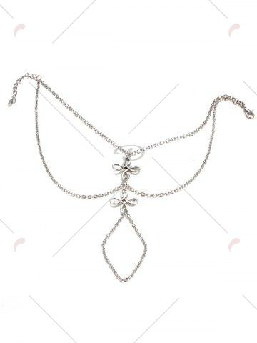 Chic Layered Chinese Knot Beach Slave Anklet - SILVER  Mobile