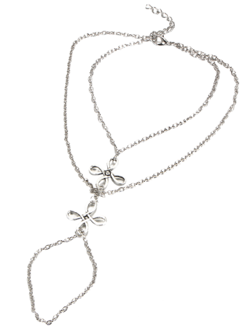 Outfit Layered Chinese Knot Beach Slave Anklet - SILVER  Mobile