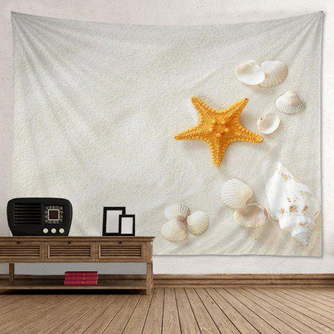 Wall Hanging Art Decor Beach Shell Print Tapestry - Off-white - W79 Inch*l59 Inch