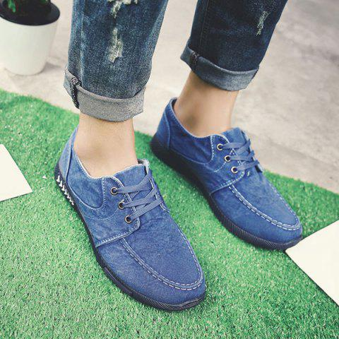 Sale Tie Up Denim Casual Shoes
