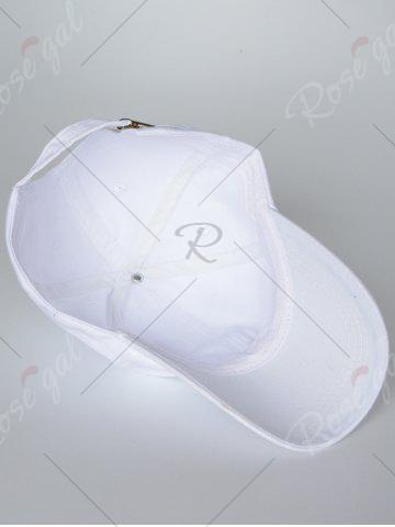 Shop Sunscreen Palms Number Embroidery Baseball Hat - ALL WHITE  Mobile