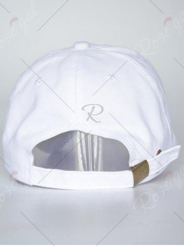 Store Sunscreen Palms Number Embroidery Baseball Hat - ALL WHITE  Mobile