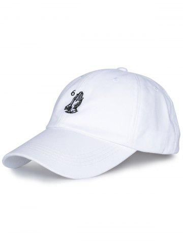 Shops Sunscreen Palms Number Embroidery Baseball Hat - ALL WHITE  Mobile