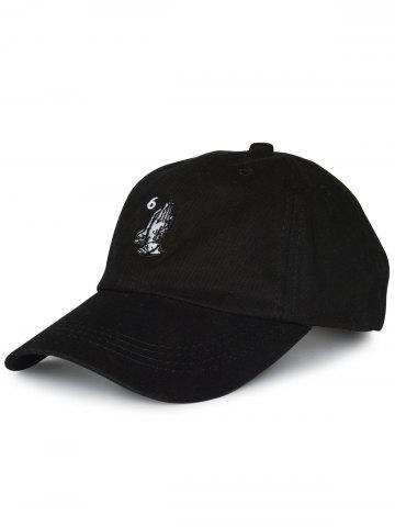 Store Sunscreen Palms Number Embroidery Baseball Hat - BLACK  Mobile