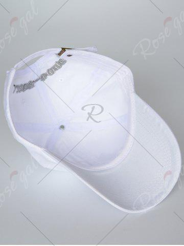 Buy Outdoor Adjustable Letters Embroidered Baseball Cap - WHITE  Mobile