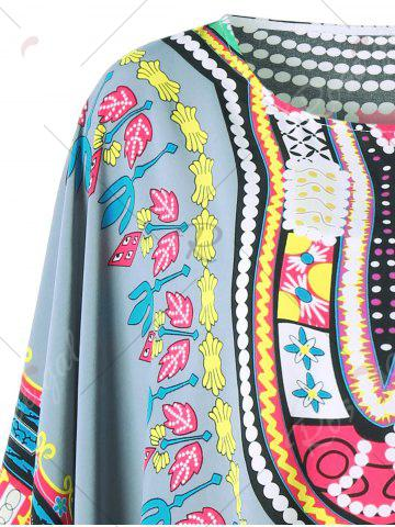 Cheap Fringed Tribal Butterfly Sleeve Cover-up - ONE SIZE COLORMIX Mobile