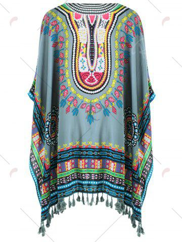 Best Fringed Tribal Butterfly Sleeve Cover-up - ONE SIZE COLORMIX Mobile