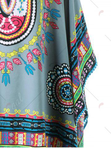 Outfit Fringed Tribal Butterfly Sleeve Cover-up - ONE SIZE COLORMIX Mobile