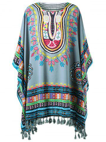 Fancy Fringed Tribal Butterfly Sleeve Cover-up