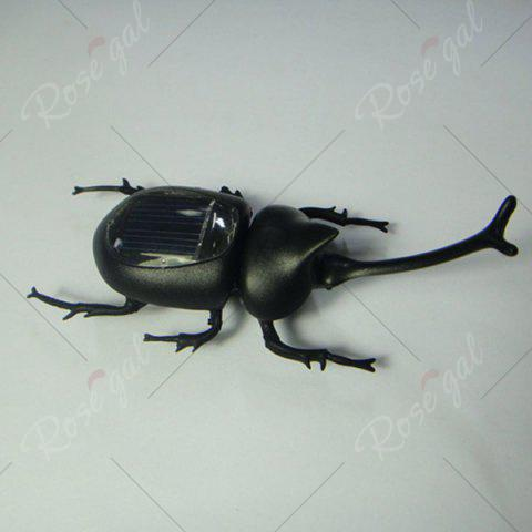 Cheap Creative Toy Solar Unicorn Beetle - BLACK  Mobile