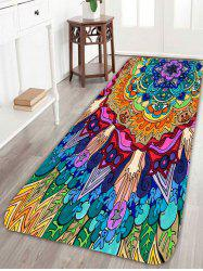 Bohemian Floral Pattern Skidproof Bath Rug - Colorful - W16inch*l47inch