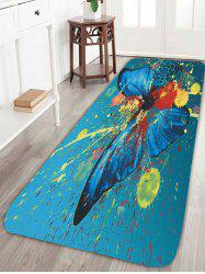 Skidproof Painting Spatter Butterfly Floral Rug