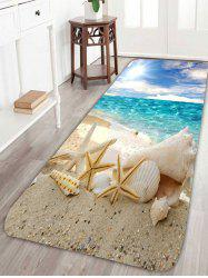 Beach Sun Starfish Antiskid Area Rug - COLORFUL