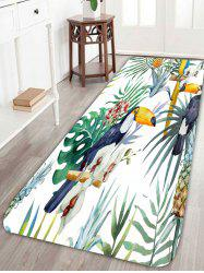 Skidproof Bird Plant Pattern Area Rug