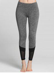 Mesh Insert Color Block Gym Leggings