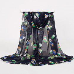 Lightsome Multicolor Flowers Printed Gossamer Scarf