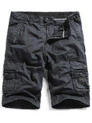 Zip Fly Straight Pockets Cargo Shorts