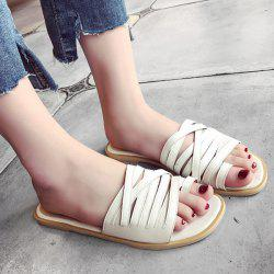 Toe Loop Strappy Flat Slides