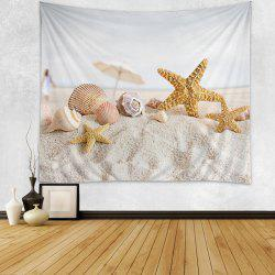 Beach Starfish Shell Print Tapestry Wall Hanging Art Décoration -