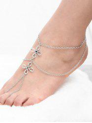 Layered Chinese Knot Beach Slave Anklet - SILVER