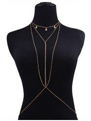 Rhinestone Beach Star Body Chain - GOLDEN
