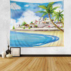 Wall Hanging Art Decoration Cartoon Beach Print Tapestry