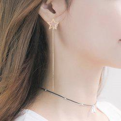 Long Link Chain Hollow Out Star Earrings