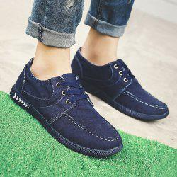 Tie Up Denim Casual Shoes -