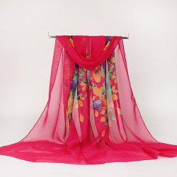 Lightsome Rose Bush Printed Gossamer Scarf