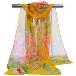 Gossamer Showy Flowers Printed Long Scarf