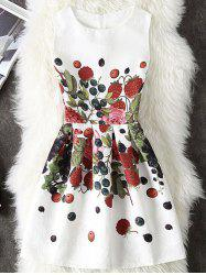Fruits Print A Line Dress