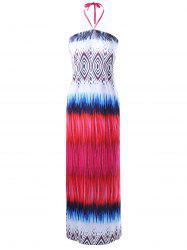 Tribal Halter Neck Maxi Dress