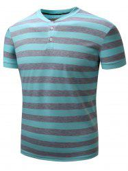 Color Block Rib Panel Stripe Polo T-shirt