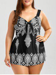 Printed Plus Size Swim Top -