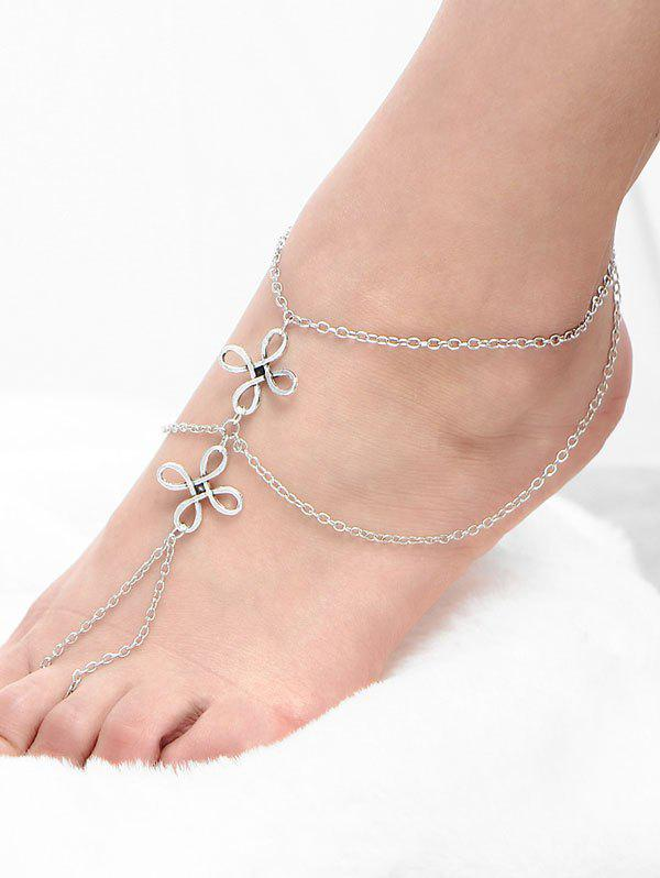 Trendy Layered Chinese Knot Beach Slave Anklet