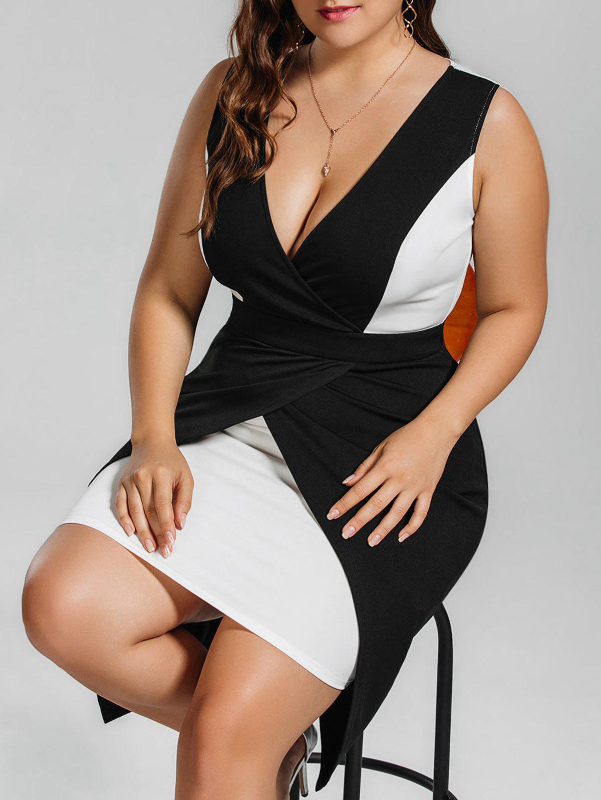 Hot Plus Size Low Cut Cocktail Tight Dress